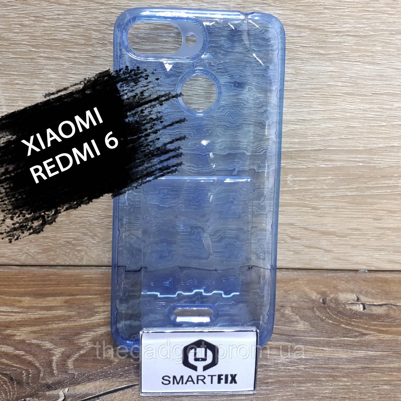 Прозорий силіконовий чохол для Xiaomi Redmi 6 Синій