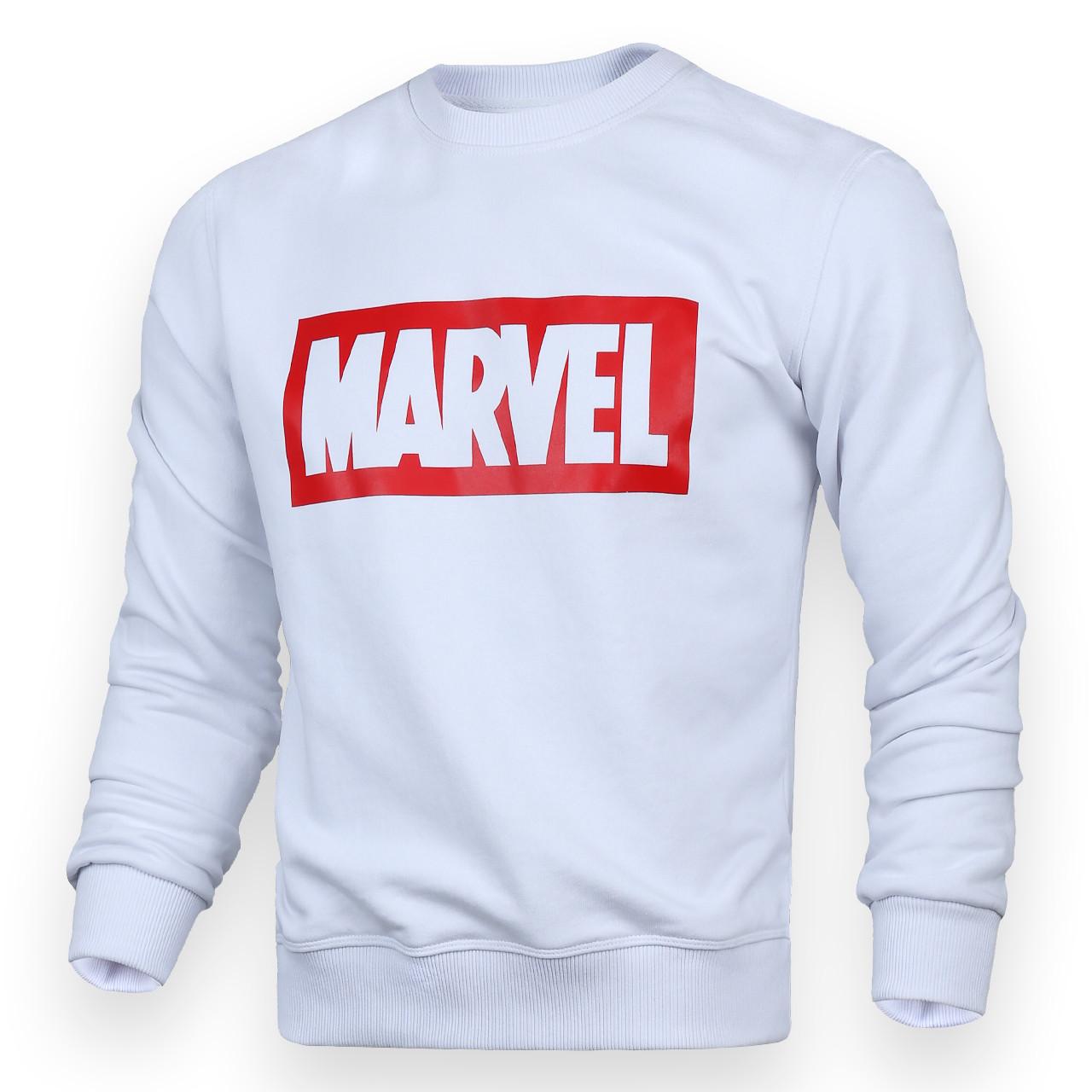 Свитшот мужской белый MARVEL с лого WHT S(Р) 18-502-001