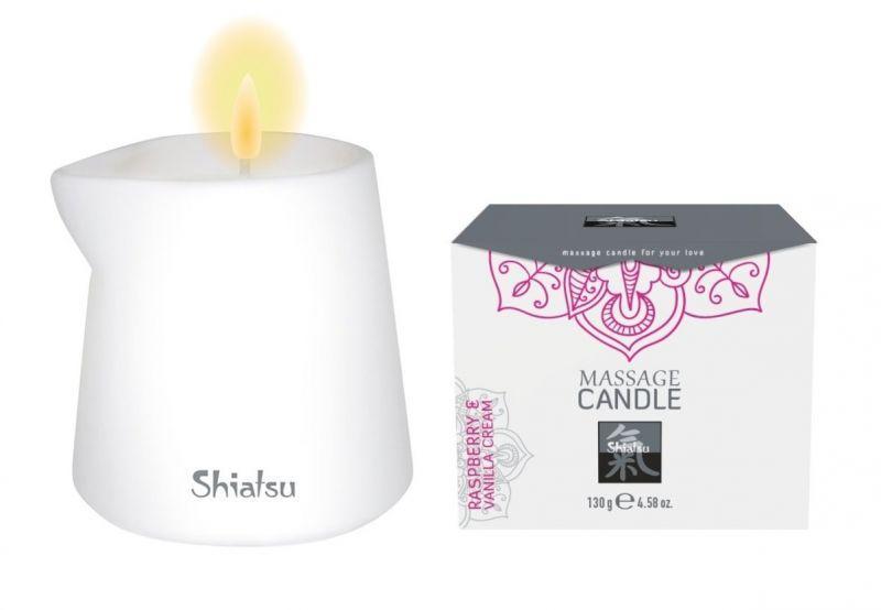Свеча для эротического массажа Малина и Ванильный Крем, 130 гр