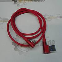Кабель USB - Apple, красный, под 90°, фото 1