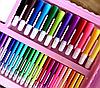 Набор для рисования и творчества в чемоданчике с мольбертом Super Mega Art Set 208 предметов   Розовый, фото 3