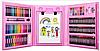 Набор для рисования и творчества в чемоданчике с мольбертом Super Mega Art Set 208 предметов   Розовый, фото 4