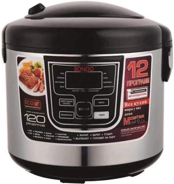 Мультиварка Banoo BN-7001 6 л 1500 Вт   12 программ с йогуртницей и хлебопечкой