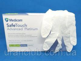 Медицинские белые нитриловые перчатки SafeTouch® Platinum White Nitrile РАЗМЕР L