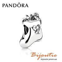 Бусина Pandora Рождественский носок 791038 серебро 925 проба Пандора оригинал