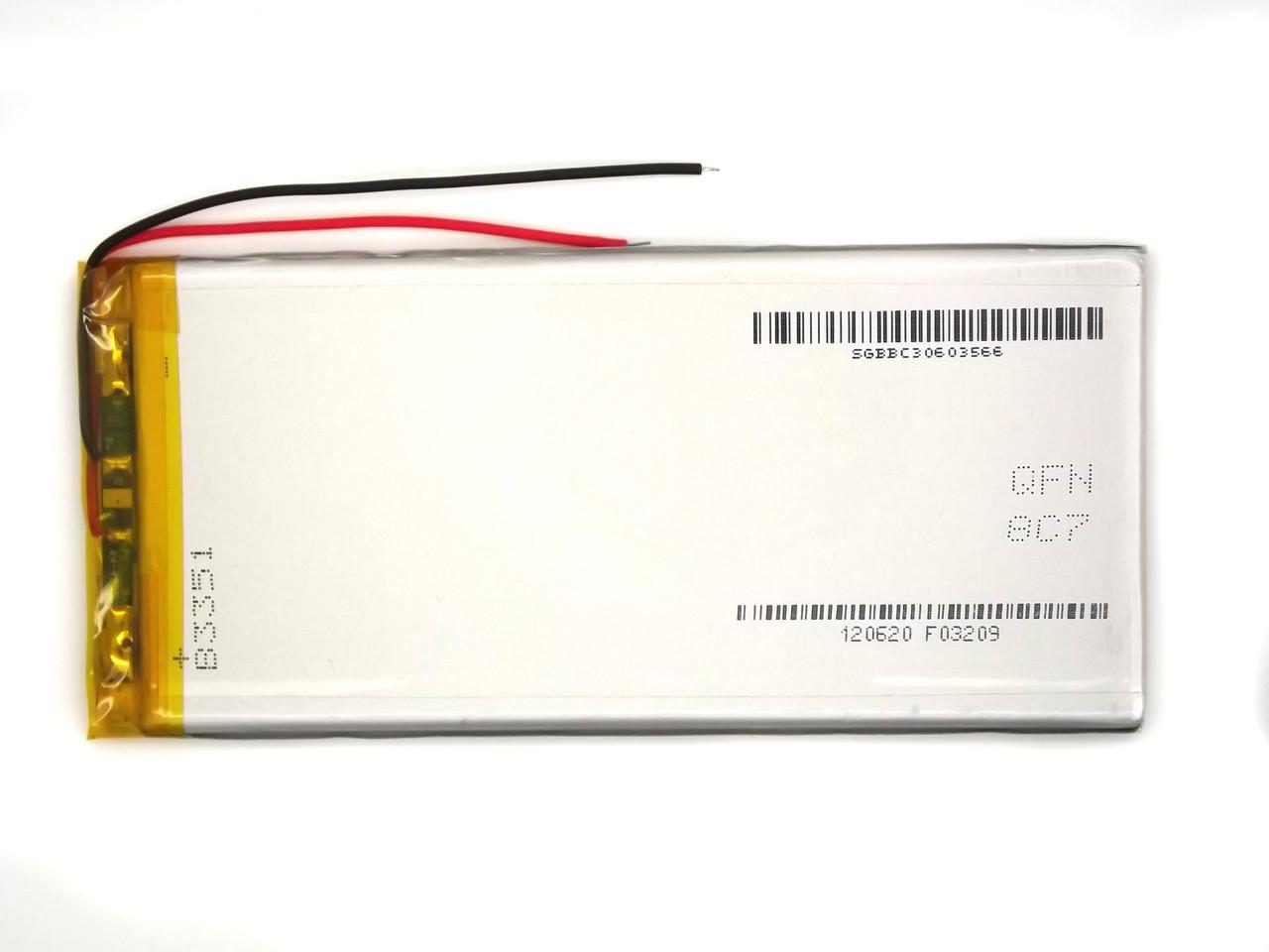 3500mAh 3.7v 4056126 УНИВЕРСАЛЬНЫЙ  длинный Аккумулятор для планшетов
