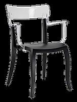 Кресло Papatya Hera-K черное сиденье, верх прозрачно-чистый