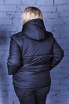 """Стеганая женская короткая куртка """"NORD"""" с капюшоном (большие размеры), фото 3"""