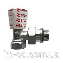 """Кран радіаторний кутовий ARCO 1/2"""" з ущільнювачемвент 503605"""