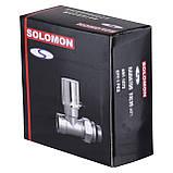 """Кран вентильний прямий з американкою SOLOMON 1/2"""" CHROM 1875 вент з ущільнювачем, фото 2"""