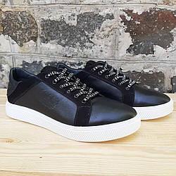 Мужские кожаные туфли GSL black