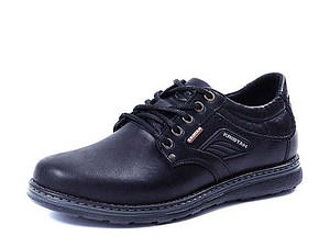 Туфли мужские из натуральной кожи на шнурках Kristan black