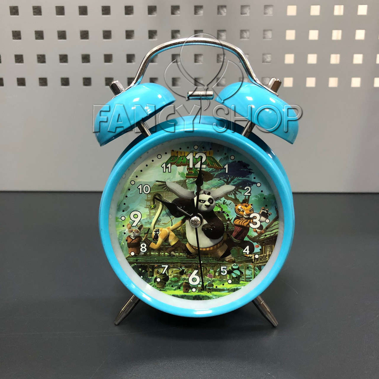 "Будильник кварцовий ""Панда Кунг-фу"", блакитний, великий, Будильник ""Панда Кунг-фу"" 0052-9"