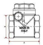"""Клапан зворотнього ходу води ITAP ROMA 1"""" хлопавка 130, фото 2"""