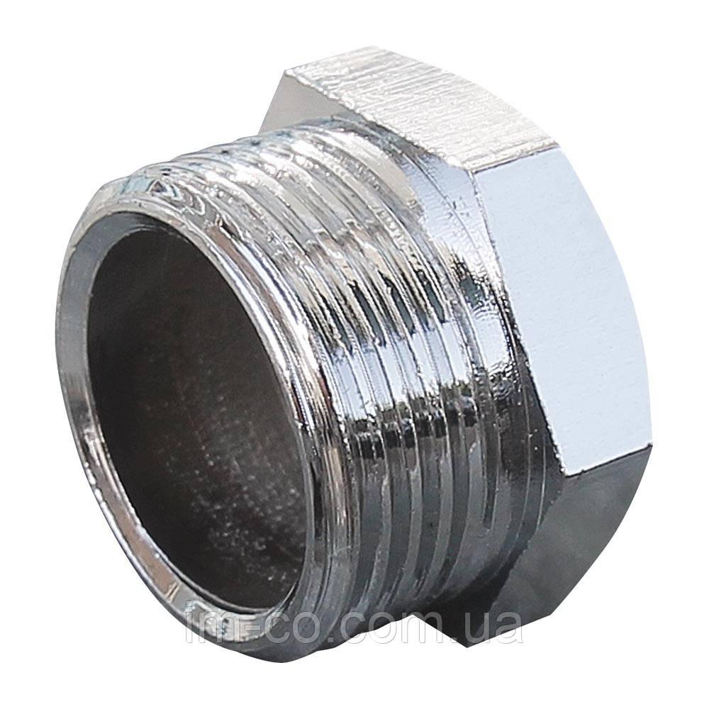 """Заглушка з зовнішньою різьбою SOLOMON 1/2"""" хром 4001"""