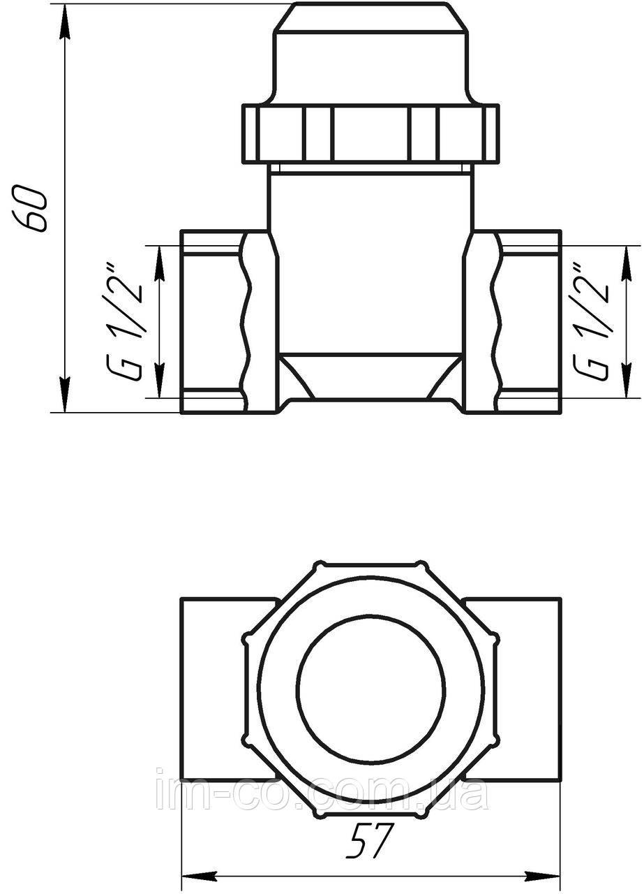 """Фільтр груб. очистки  1/2"""" вв хром.з відстійником Solomon (8014) TD1052"""