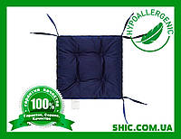 Подушка на стул синяя 40х40 см борт 5 см. Подушки на стулья. Подушки на табурет. Чехол на стул. Чехлы на стул.
