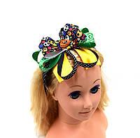 """Обруч на голову """"Банти зі стрічок/Гарбуз і зелений лук"""" на Хеллоуїн"""