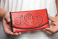 Кожаный кошелек ручной работы, женский качественный клатч-кошелек, фото 1
