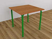Стол для столовых, квадратный, на металлокаркасе, 4-местный, 830х830х750 мм.