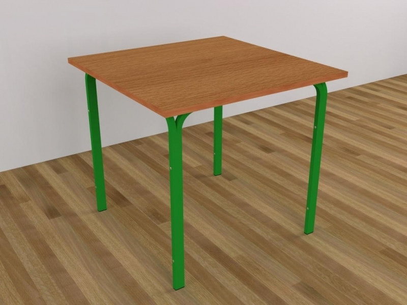 Стол для столовых, квадратный, на металлокаркасе, 4-местный — 830х830х750 мм