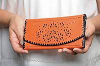Кожаный женский кошелек, качественный кошелек ручной работы