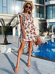 Женское летнее платье/сарафан с цветочным принтом