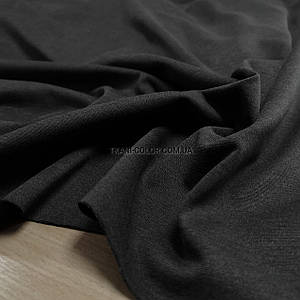 Трикотаж джерси темно-серый меланж