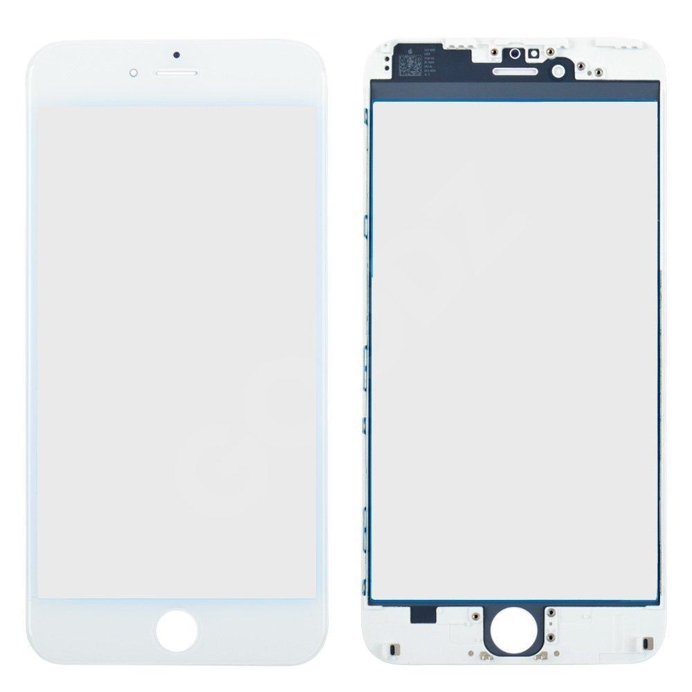 Стекло корпуса с рамкой и OCA для iPhone 6 Plus, цвет белый