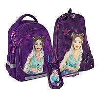 Рюкзак школьный Kite Education Fashion K20-700M-4 (ортопедический рюкзак для девочки), фото 1