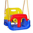 Подвесные детские качели 4 в 1 с защитой и столиком для детей, фото 4
