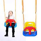 Подвесные детские качели 4 в 1 с защитой и столиком для детей, фото 5