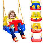 Подвесные детские качели 4 в 1 с защитой и столиком для детей, фото 6