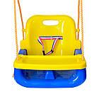 Подвесные детские качели 4 в 1 с защитой и столиком для детей, фото 7