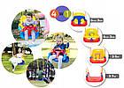 Подвесные детские качели 4 в 1 с защитой и столиком для детей, фото 9