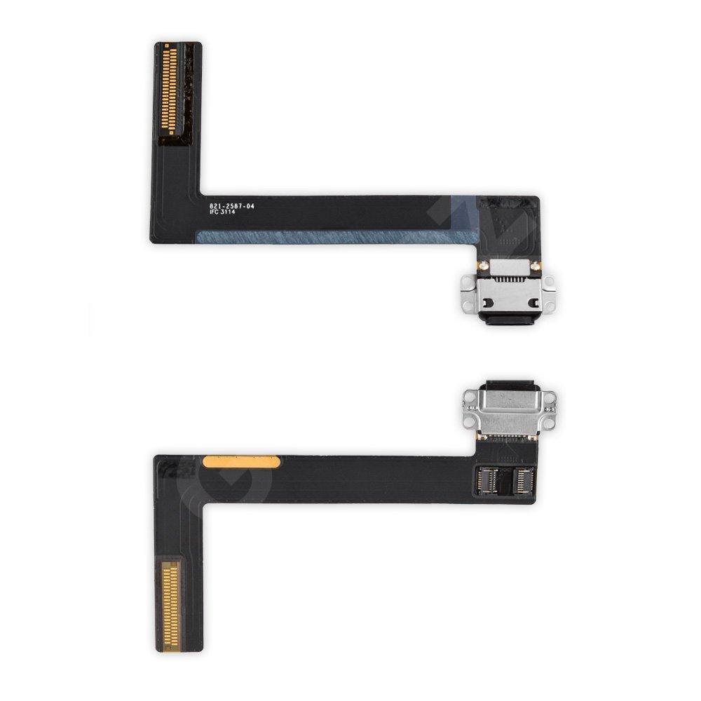 Шлейф для iPad 6 Air 2 с разъемом зарядки, цвет черный