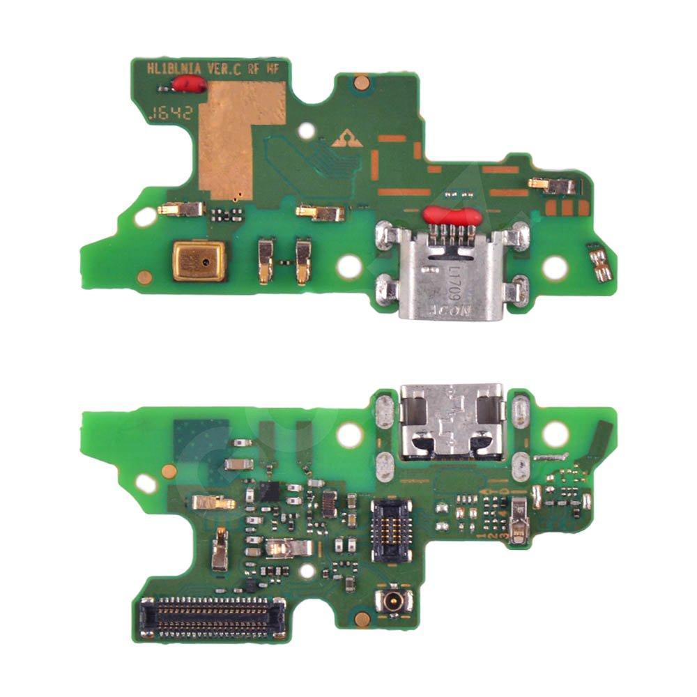 Разъем зарядки для Huawei Honor 6X (BLN-L21), Mate 9 Lite, GR5 (2017) с нижней платой