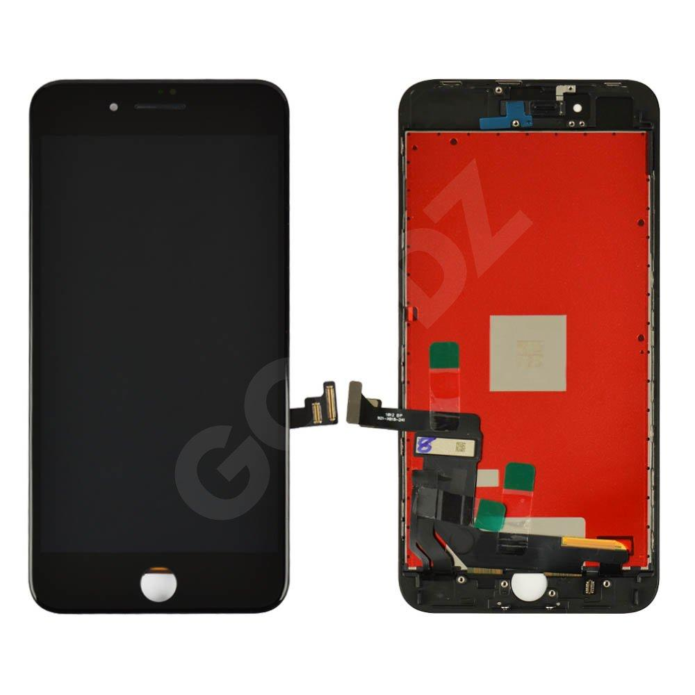 Дисплей для iPhone 8 Plus (5.5) с тачскрином в сборе, цвет черный, копия высокого качества Kingwo