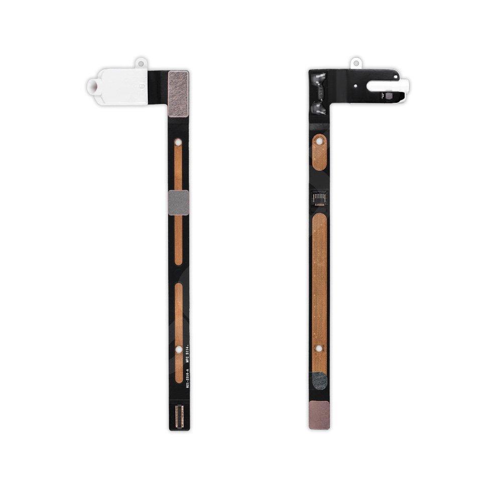 Шлейф для iPad 6 Air 2 с разъемом наушников, цвет белый