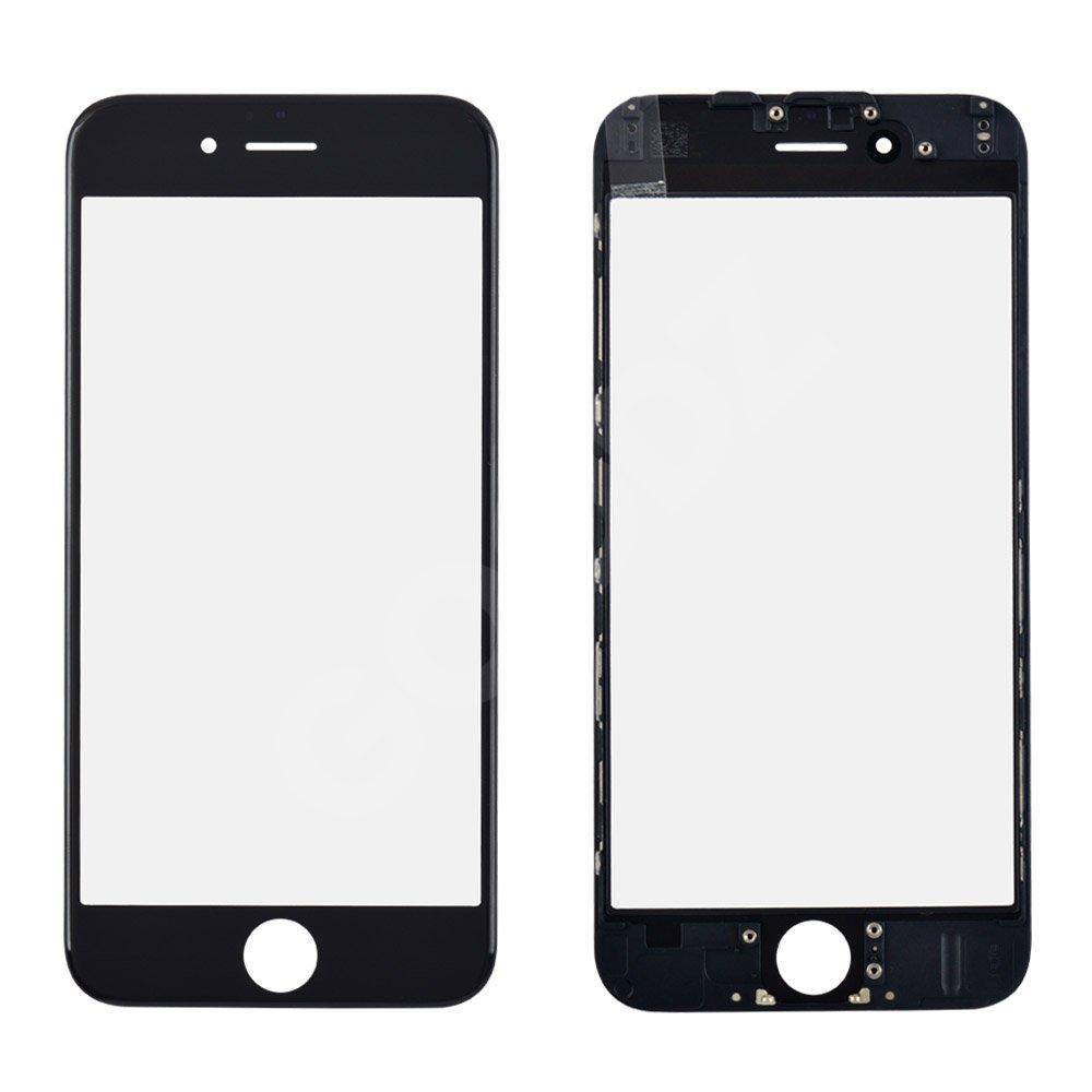 Стекло корпуса с рамкой и OCA для iPhone 6, цвет черный
