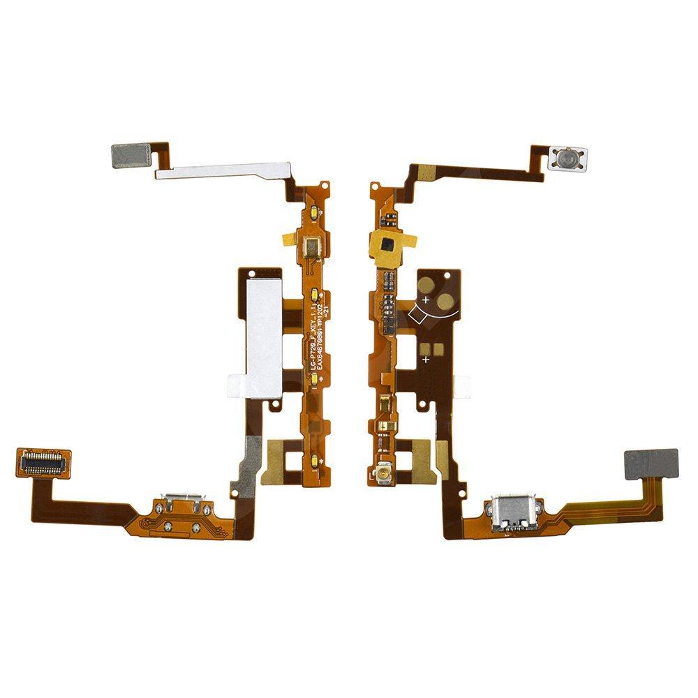 Шлейф для LG P720, P725 с разъемом зарядки и микрофоном