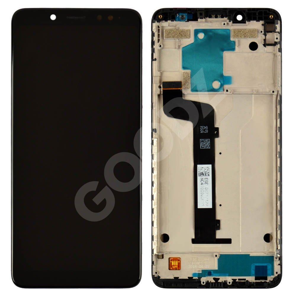 Дисплей для Xiaomi Redmi Note 5, Note 5 Pro с тачскрином и рамкой в сборе, цвет черный, копия высокого