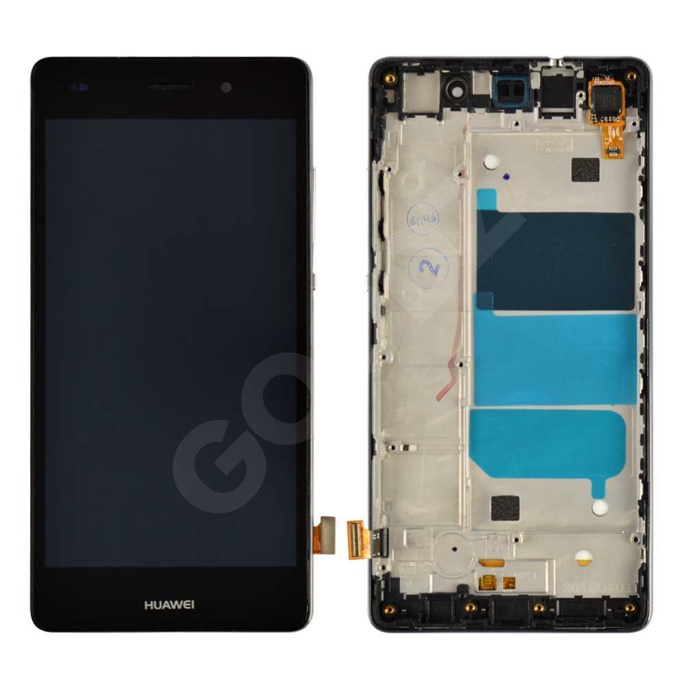 Дисплей для Huawei P8 Lite (ALE L21 L20 L22) с тачскрином и рамкой в сборе, цвет черный, копия высок