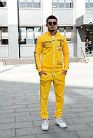 Модный мужской спортивный костюм жёлтого цвета  M, L, XL, XXL