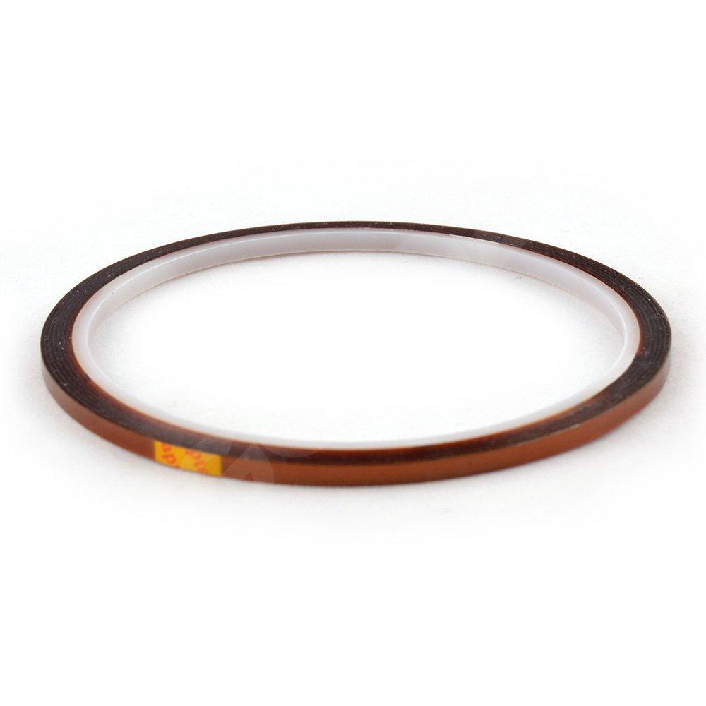 Термо скотч (желтый) каптоновый, ширина 3 мм