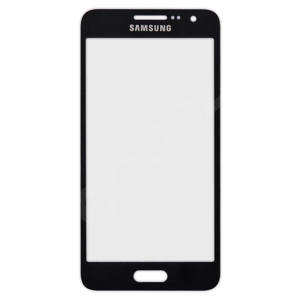 Стекло корпуса для Samsung A300 Galaxy A3, цвет черный