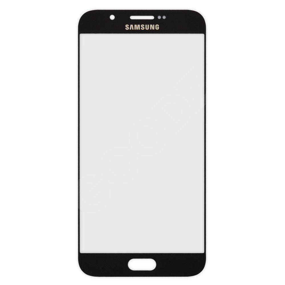 Стекло корпуса для Samsung A800 Galaxy A8, цвет черный