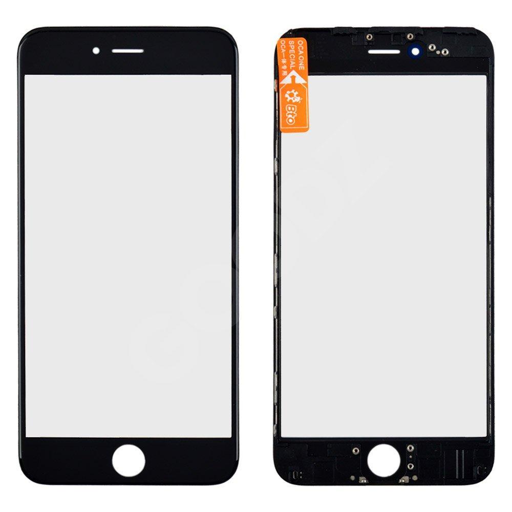 Стекло корпуса с рамкой и OCA для iPhone 6 Plus, цвет черный