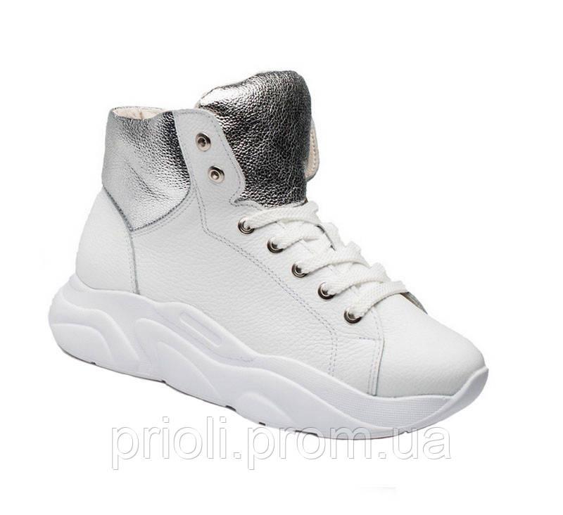 Женские зимние спортивные ботинки белые опт