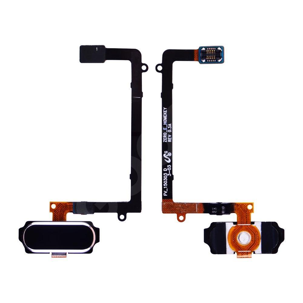 Шлейф для Samsung Galaxy S6 EDGE G925F с кнопкой Home, цвет черный